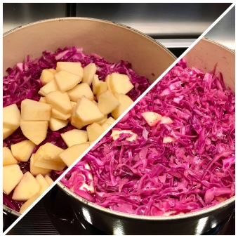 Red Cabbage_adding apples
